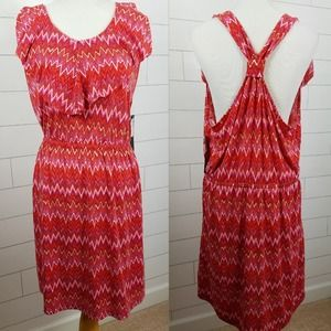 Nicole Miller Dress XXL Pink Red Racerback NWT